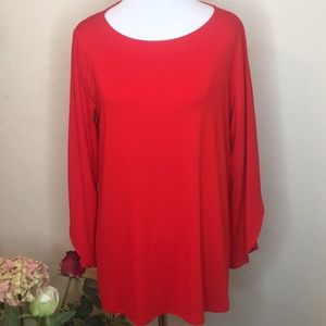 NWT Eileen Fisher Red Long Sleeve Size Small